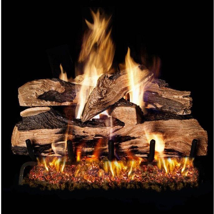 Real Fyre Split Oak Designer Plus Vented Gas Logs (SDP-18), 18-Inch