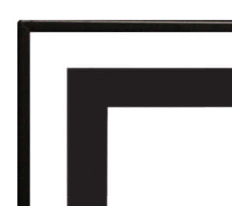 Empire 3/4-inch Matte Black Trim for Boulevard 60