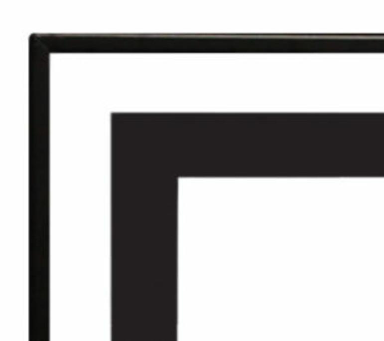 Empire 1 1/2-inch Matte Black Beveled Front for Boulevard 60