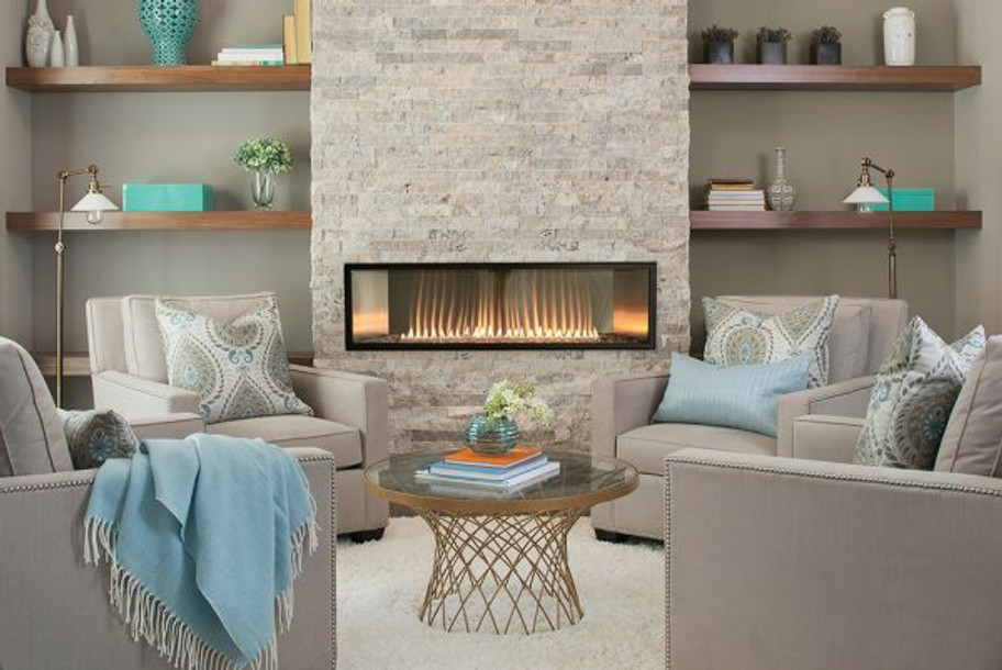 Empire Boulevard 48-inch Vent-Free Linear Fireplace with Remote Control