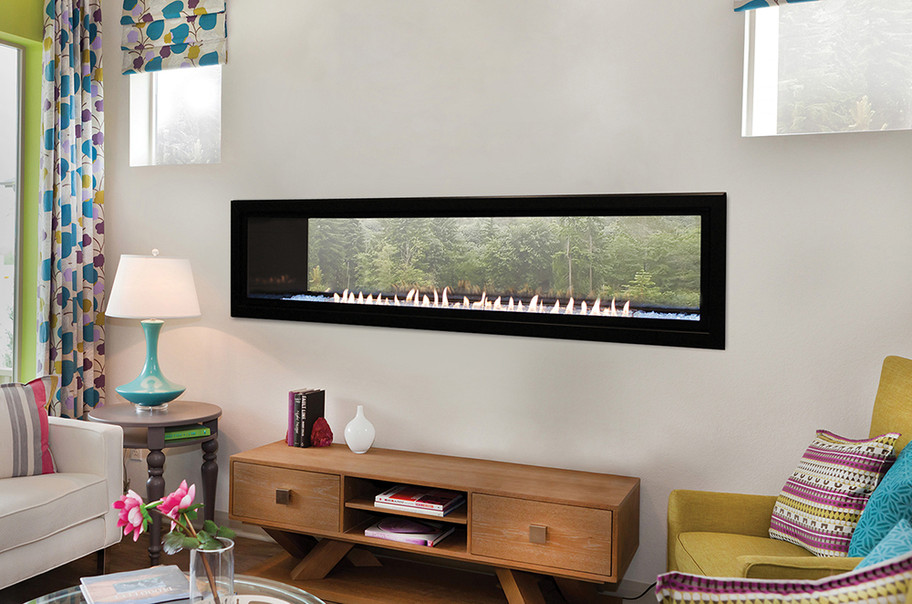 Empire Boulevard 60 Vent-Free Linear See-Through Fireplace with Remote Control