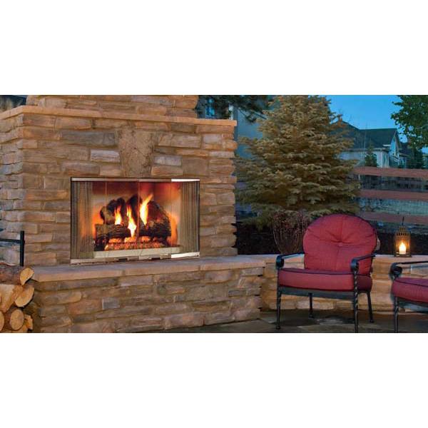 Majestic Montana Radiant Outdoor Wood Burning Fireplace 42 Inch