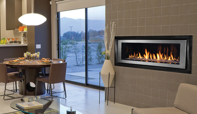 Linear Gas Fireplace >> Superior Drl6554 54 Inch Linear Direct Vent Gas Fireplace