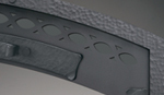 Hammered steel facade superior new