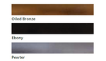 Oiled bronze ebony pewter