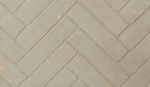 Split herringbone brick white