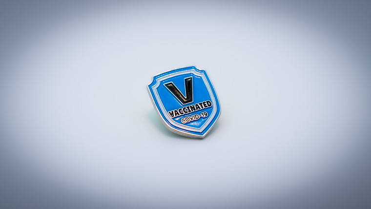 Vaccination Pin - Blue