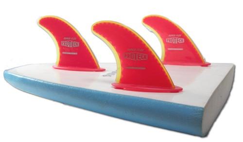 """4.50"""" Super Flex Flange & Post Fin for Soft Boards w/nylon screws (3 fin set)"""