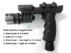 HG03 Rifle Vertical Foregrip Grip + 500 Lumen Flashlight and Green Laser Combo Sight