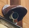 Universal Sun Rain Shade Camera Cover Shield for Nest IQ/Ring/Arlo/Dome/Bullet Outdoor Camera - Coffee