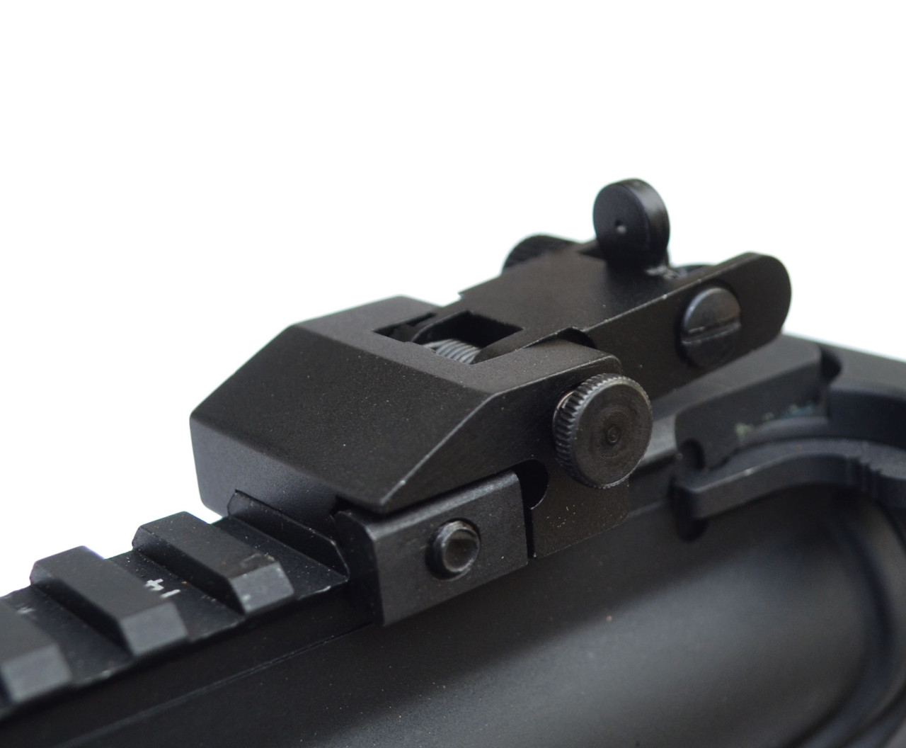 Details about  /Front Rear Gun Sight Iron Flip Up Backup Picatinny Rifle Spring Load Weaver Rail