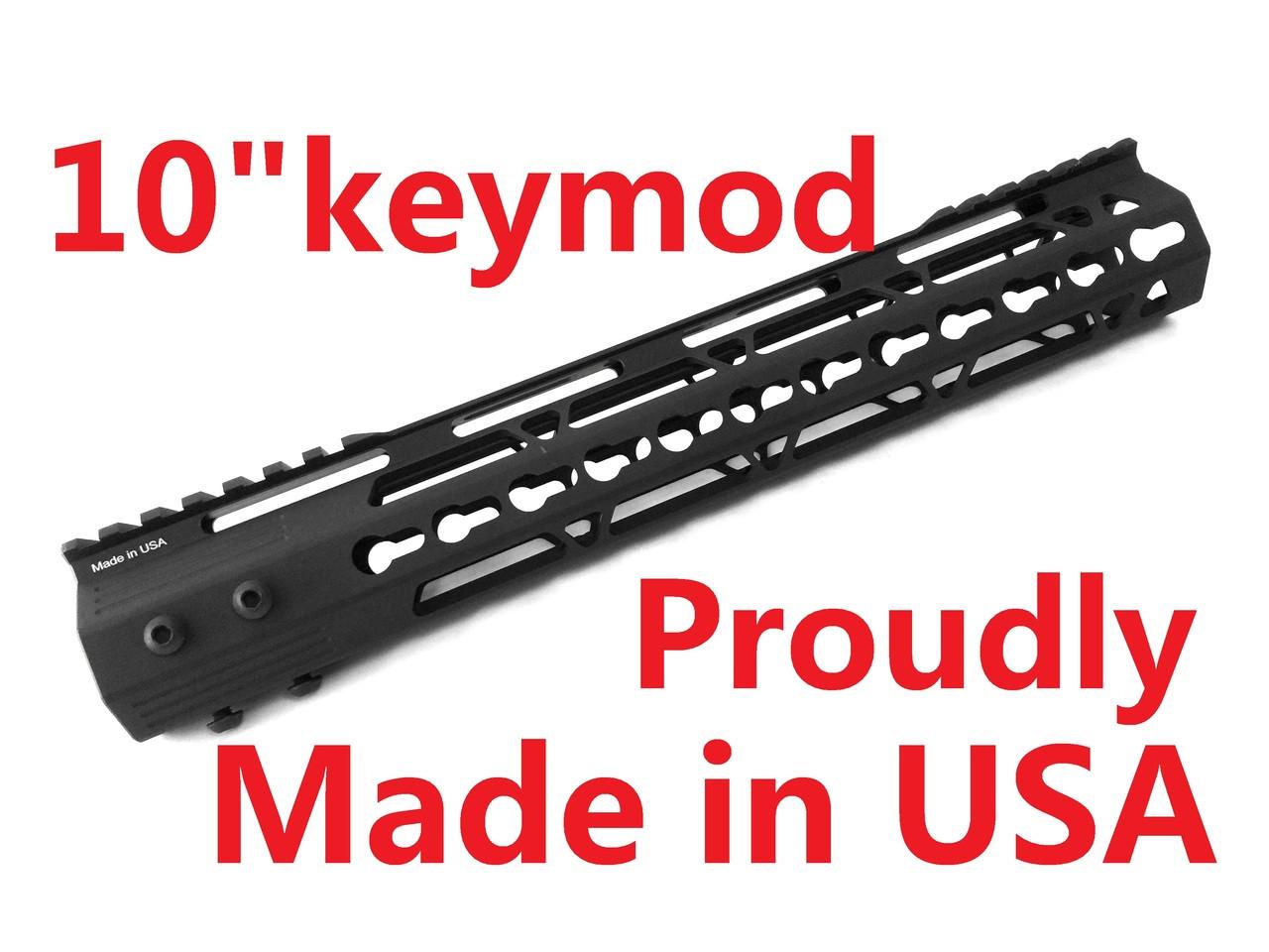 "10/"" inch Free Float Keymod Handguard Super Slim Picatinny Rail Mount For Rifle"