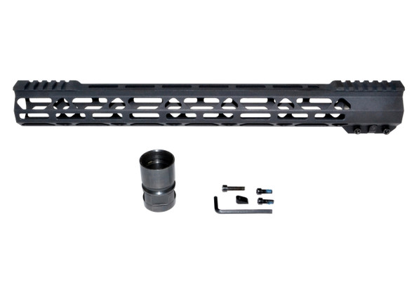 "15"" INCH MLOK RAIL SUPER SLIM HANDGUARD FREE FLOAT for AR15 - Clamp On Design"