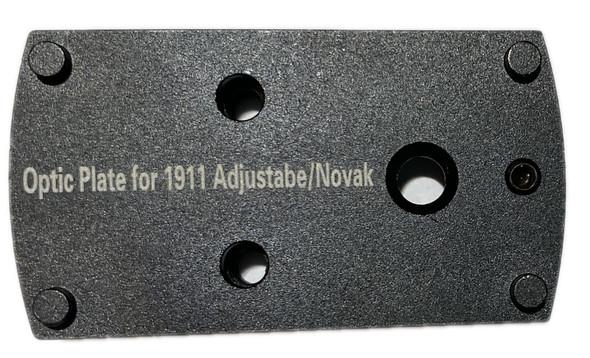 Novak/Adjustable 1911 Pistol Mount Plate for Vortex venom, burris fastfire, meopta, eotech mrds, docter, insight Red Dot Reflex Sight