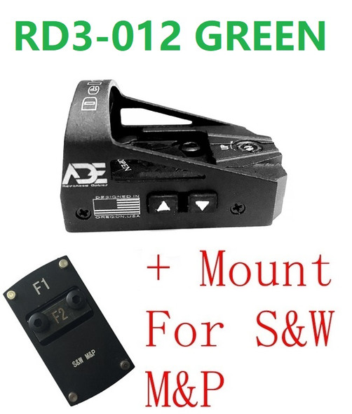 Ade RD3-012-G  Waterproof GREEN Dot Sight for Smith Wesson SW MP Shield SD9 SD SD40 MP SD40VE