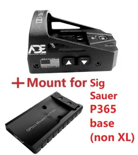 ADE RD3-012 Crusader Red Dot Reflex Sight + Optic Mounting Plate for SIG SAUER P365