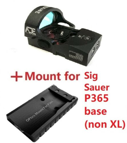 ADE RD3-013 Crusader Red Dot Reflex Sight + Optic Mounting Plate for SIG SAUER P365