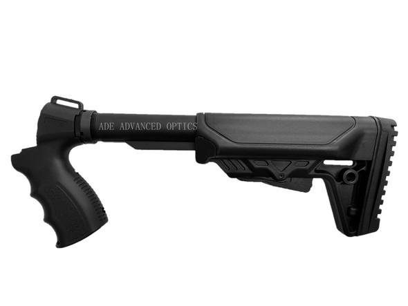 """12/20 GA SHOT GUN """"MADE IN USA"""" Tactical COBRA Stock + Pistol Grip + Buffer tube +Castle Nut - COMPLETE KIT for Mossberg 500 590 535"""