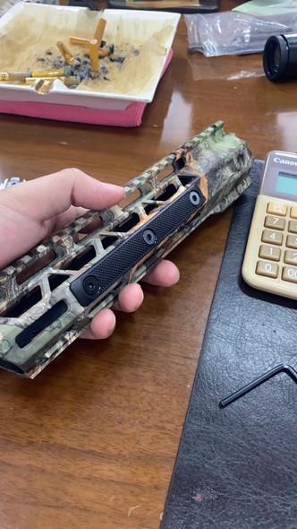 "M-LOK rail 3"" cover grip panels - 3-pack (Black / 2-slot) For MLOK AR15/308 Handguard rails"
