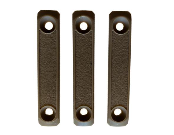 "M-LOK rail 3"" cover grip panels - 3-pack (FDE/TAN  2-slot) For MLOK AR15/308 Handguard rails"