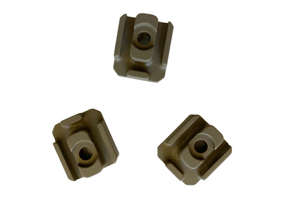 Pack of 3! Flashlight Laser Pressure Switch/Wire/Cable Management MOUNT for Mlok Handguard Rail - FDE/Tan Color