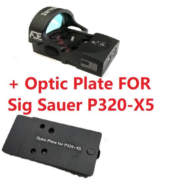 Ade Advanced Optics Bertrillium RD3-013 Red Dot Reflex Sight + Optic Mounting Plate for Sig Sauer P320-X5 Pistol