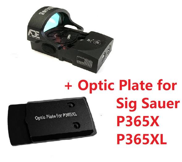 Ade Advanced Optics Bertrillium RD3-013 Red Dot Reflex Sight + Optic Mounting Plate for Sig Sauer P365XL/P365X Handgun