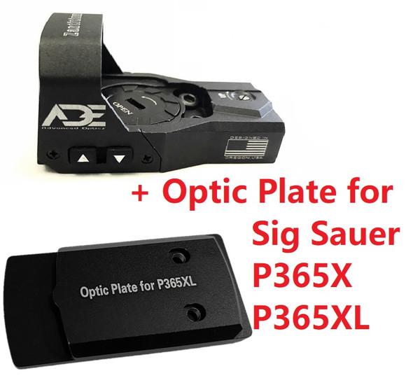 Ade Advanced Optics Zantitium RD3-015 Red Dot Reflex Sight + Optic Mounting Plate for Sig Sauer P365XL/P365X Handgun