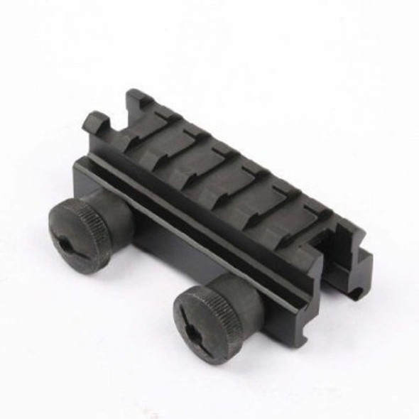 """Tactical 1"""" Compact 7 Slot Weaver-Picatinny High Profile See Thru Stanag Riser Mount For AR15 M4 Flattop Rifle Scope - Sight"""