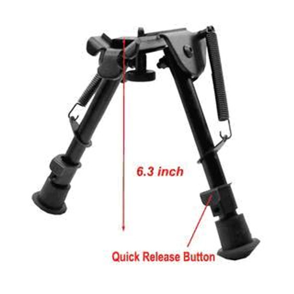 "5 level 6""-9"" rifle Bipod Fore grip Metal Mount TACTICAL folding Picatinny rail  by Ade Advanced Optics"