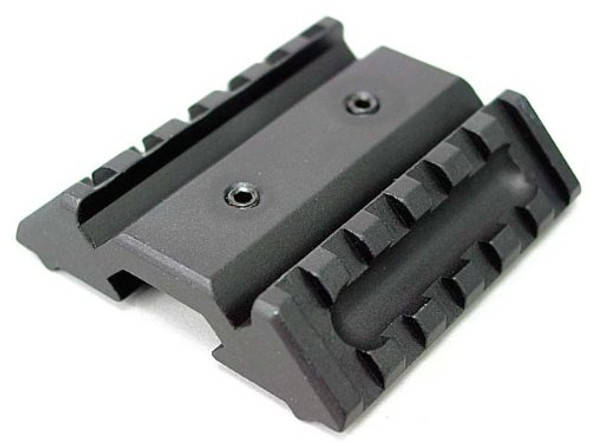Dual 45 Offset 6Slot Weaver Picatinny Flashlight Laser Tactical Rifle Mount Quad