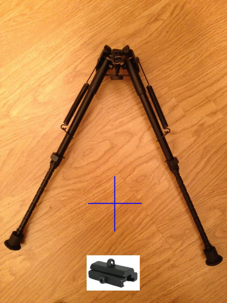 "New! 10 levels 9""-15"" Long Hunting Rifle Bipod Mount folding Picatinny rail"