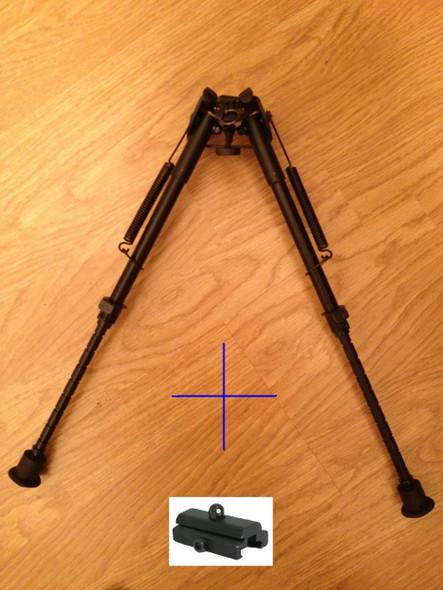 "New! 10 levels 9""-15"" Long Hunting Rifle Bipod Mount folding Picatinny rail"