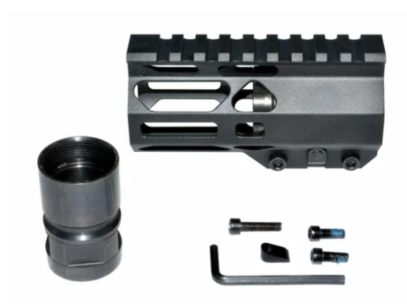 "Pistol Length 4.2"" inch MLOK rail Super Slim Handguard Free Float for ar15"