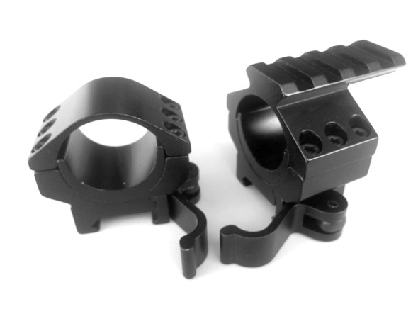 "Ade Advanced Optics 30mm 1"" Heavy Duty Quick Detach Qd Rifle Scope LOW Rings Set+Picatinny Rail Top"