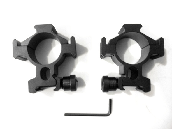 Ade Advanced Optics 34mm Tactical Mounts/rings (Pair) for Rifle Scope Picatinny Rails on Three Side