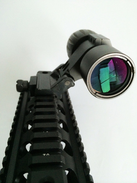 Ade Advanced Optics Tactial 3X Magnifier Scope Sight with Flip To Side FTS Picatinny Weaver Rail Mount for Eotech Aimpoint