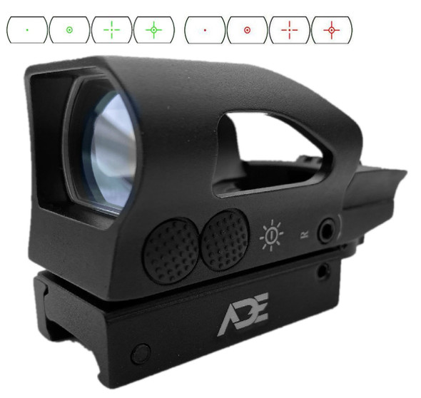 Ade Optics rd2-005 Tactical Digital Tactical 4 Reticle Holo Reflex Sight Red Green Dot