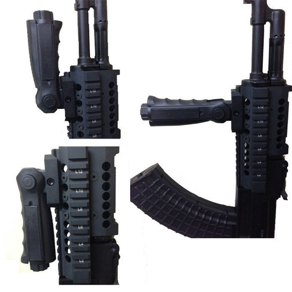 New Design 5 Position Folding Polymer Front Vertical Rail Fore Rifle Grip Picatinny .223