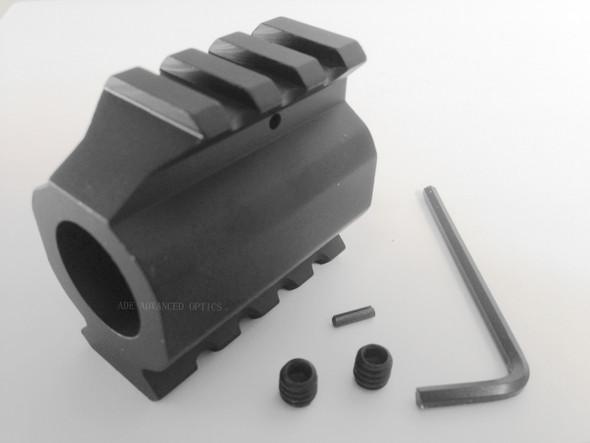 .750 barrel 5.56 .223 Low Profile Gas Block+Top and Bottom Picatinny/weaver Rail