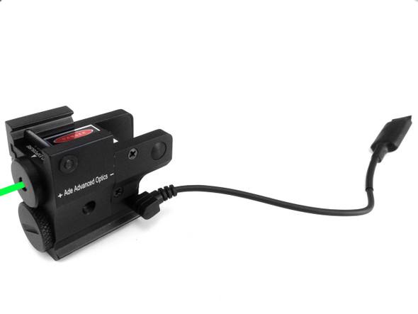 Sub Compact Green Pistol Laser Fits Ruger Sr 22 Sr9 Sr9c SR40C Springfield XD