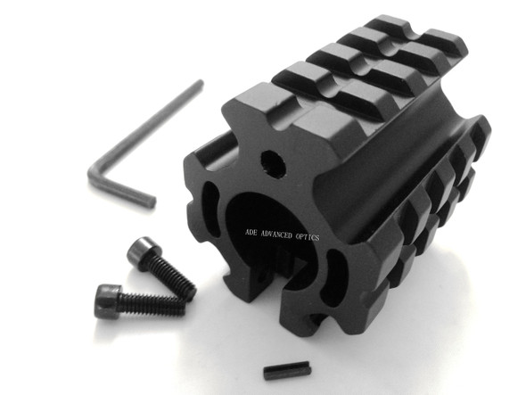 "223/5.56 Quad Rail Gas Block Clamp on Barrel Mount Rolled Pin fit .750"" Barrel"