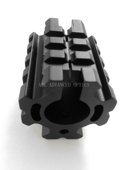 "223/5.56 Quad Rail Gas Block Clamp on Barrel Mount Rolled Pin fit .750"" Barrel"