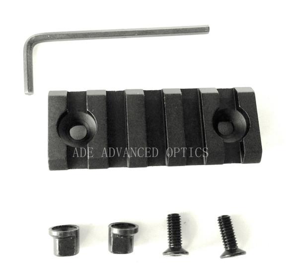 5 Slots 2 inch KeyMod 1913 Picatinny Rail Section Mil Spec Handguard quad