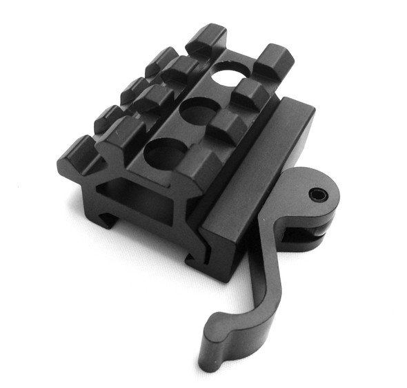 QD 3 Slot Angle Mount Quick Release Double Picatinny/Weaver Rifle See-Throu Rail
