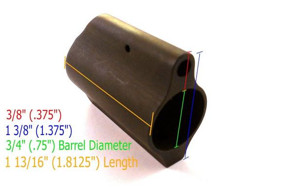 """Steel .780"""" Long Gas Block Low Profile"""