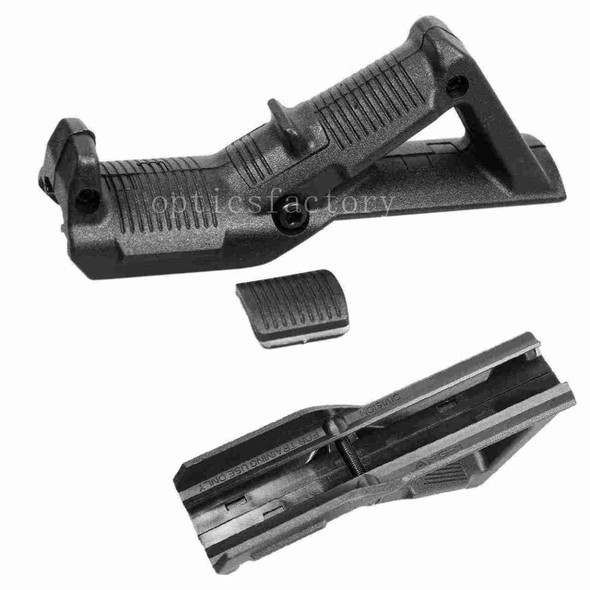 Rifle Angled Foregrip Front Grip for Picatinny / Weaver Rail - Black