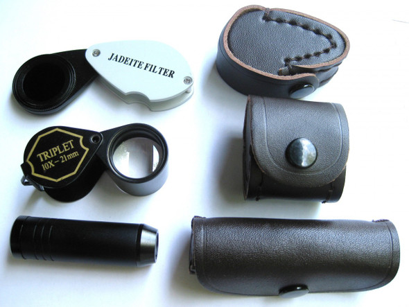 Spectroscope, Chelsea Filter, Jewelers Loupe,  3 bundle