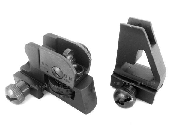 Mil Spec Detachable Rear + A2 Front Sight SET Designed use on LOW Profile Gas block