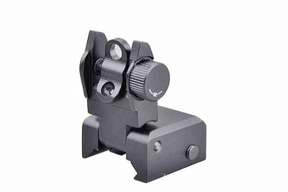 Flip Up Front Rear Sights Set for Picatinny Rails and Flattop ar15 airsoft